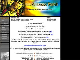 Saint Ambrose Parish Website Design