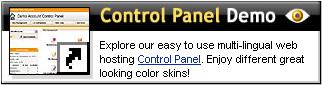 Web Hosting Control Panel Demo