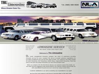 TRU Limousines Web design